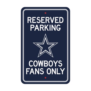 Picture of Dallas Cowboys Team Color Reserved Parking Sign Décor 18in. X 11.5in. Lightweight