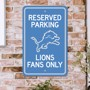 Picture of Detroit Lions Team Color Reserved Parking Sign Décor 18in. X 11.5in. Lightweight