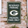 Picture of Green Bay Packers Team Color Reserved Parking Sign Décor 18in. X 11.5in. Lightweight