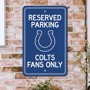 Picture of Indianapolis Colts Team Color Reserved Parking Sign Décor 18in. X 11.5in. Lightweight