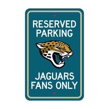 Picture of Jacksonville Jaguars Team Color Reserved Parking Sign Décor 18in. X 11.5in. Lightweight
