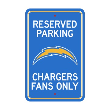 Picture of Los Angeles Chargers Team Color Reserved Parking Sign Décor 18in. X 11.5in. Lightweight