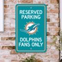 Picture of Miami Dolphins Team Color Reserved Parking Sign Décor 18in. X 11.5in. Lightweight