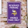 Picture of Minnesota Vikings Team Color Reserved Parking Sign Décor 18in. X 11.5in. Lightweight