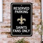 Picture of New Orleans Saints Team Color Reserved Parking Sign Décor 18in. X 11.5in. Lightweight