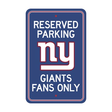 Picture of New York Giants Team Color Reserved Parking Sign Décor 18in. X 11.5in. Lightweight