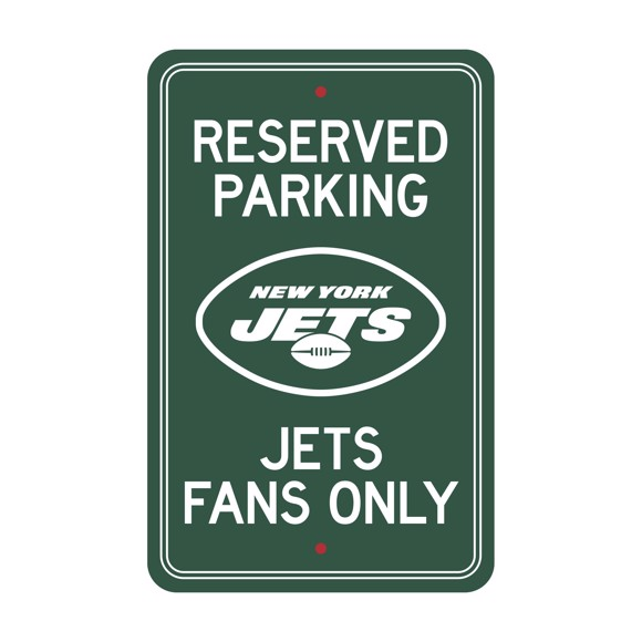 Picture of New York Jets Team Color Reserved Parking Sign Décor 18in. X 11.5in. Lightweight
