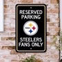 Picture of Pittsburgh Steelers Team Color Reserved Parking Sign Décor 18in. X 11.5in. Lightweight