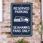Picture of Seattle Seahawks Team Color Reserved Parking Sign Décor 18in. X 11.5in. Lightweight