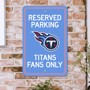 Picture of Tennessee Titans Team Color Reserved Parking Sign Décor 18in. X 11.5in. Lightweight