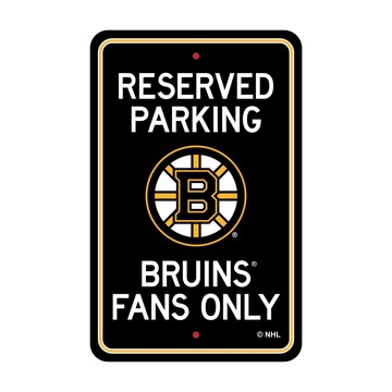 Picture of Boston Bruins Team Color Reserved Parking Sign Décor 18in. X 11.5in. Lightweight