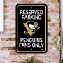 Picture of Pittsburgh Penguins Team Color Reserved Parking Sign Décor 18in. X 11.5in. Lightweight