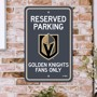Picture of Vegas Golden Knights Team Color Reserved Parking Sign Décor 18in. X 11.5in. Lightweight