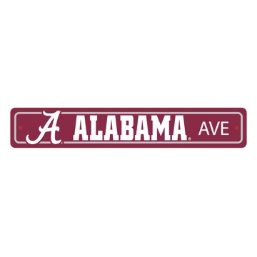 Picture of Alabama Crimson Tide Team Color Street Sign Décor 4in. X 24in. Lightweight