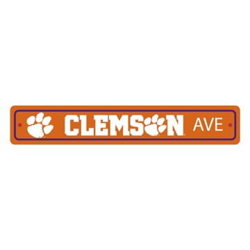 Picture of Clemson Tigers Team Color Street Sign Décor 4in. X 24in. Lightweight
