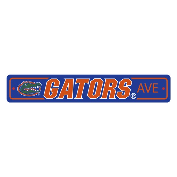 Picture of Florida Gators Team Color Street Sign Décor 4in. X 24in. Lightweight
