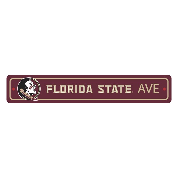 Picture of Florida State Seminoles Team Color Street Sign Décor 4in. X 24in. Lightweight