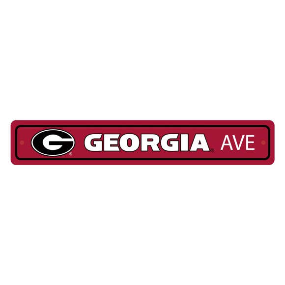 Picture of Georgia Bulldogs Team Color Street Sign Décor 4in. X 24in. Lightweight