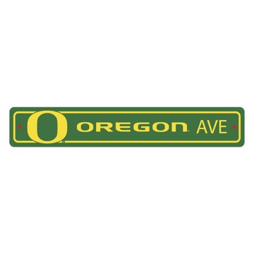 Picture of Oregon Ducks Team Color Street Sign Décor 4in. X 24in. Lightweight