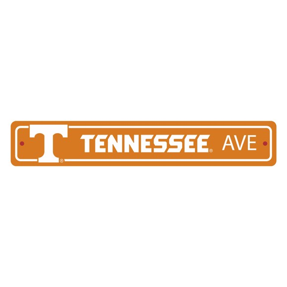 Picture of Tennessee Volunteers Team Color Street Sign Décor 4in. X 24in. Lightweight