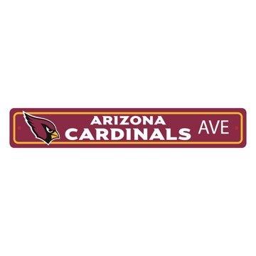 Picture of Arizona Cardinals Team Color Street Sign Décor 4in. X 24in. Lightweight
