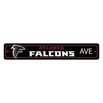 Picture of Atlanta Falcons Team Color Street Sign Décor 4in. X 24in. Lightweight