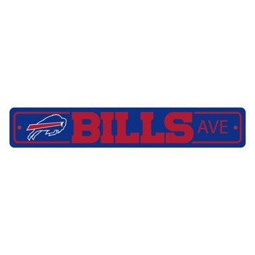 Picture of Buffalo Bills Team Color Street Sign Décor 4in. X 24in. Lightweight