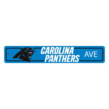 Picture of Carolina Panthers Team Color Street Sign Décor 4in. X 24in. Lightweight