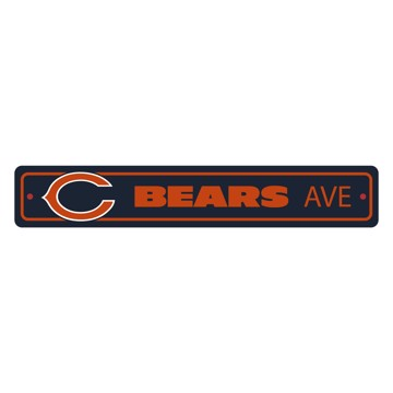 Picture of Chicago Bears Team Color Street Sign Décor 4in. X 24in. Lightweight