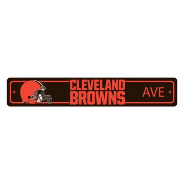 Picture of Cleveland Browns Team Color Street Sign Décor 4in. X 24in. Lightweight