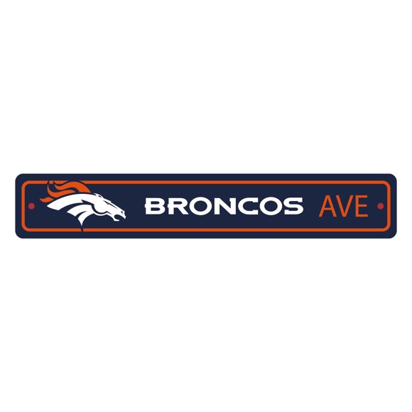 Picture of Denver Broncos Team Color Street Sign Décor 4in. X 24in. Lightweight