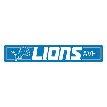Picture of Detroit Lions Team Color Street Sign Décor 4in. X 24in. Lightweight