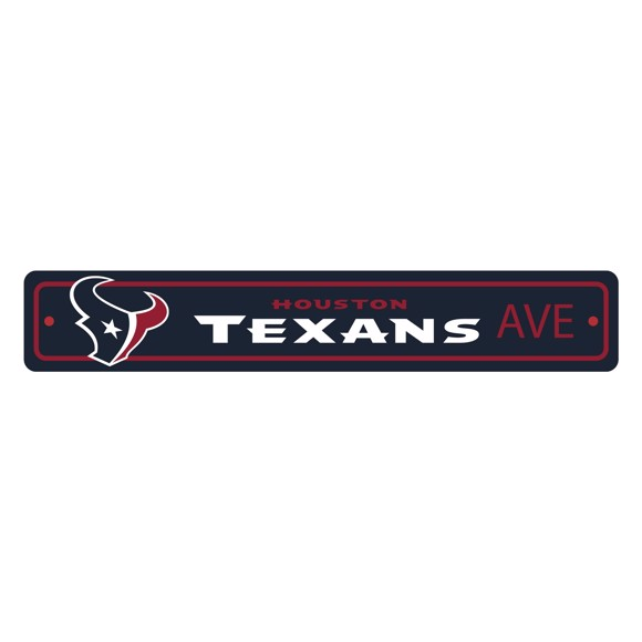 Picture of Houston Texans Team Color Street Sign Décor 4in. X 24in. Lightweight
