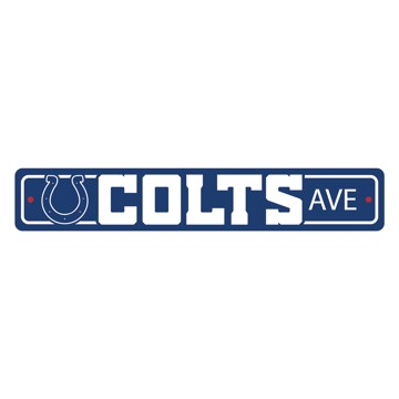 Picture of Indianapolis Colts Team Color Street Sign Décor 4in. X 24in. Lightweight