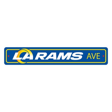 Picture of Los Angeles Rams Team Color Street Sign Décor 4in. X 24in. Lightweight