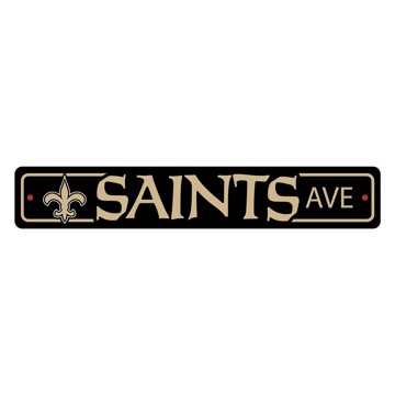 Picture of New Orleans Saints Team Color Street Sign Décor 4in. X 24in. Lightweight