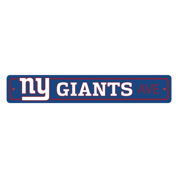 Picture of New York Giants Team Color Street Sign Décor 4in. X 24in. Lightweight