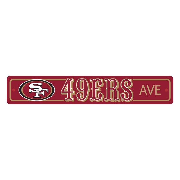 Picture of San Francisco 49ers Team Color Street Sign Décor 4in. X 24in. Lightweight