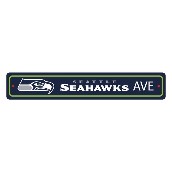 Picture of Seattle Seahawks Team Color Street Sign Décor 4in. X 24in. Lightweight