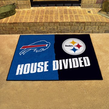 Picture of House Divided Mat - Buffalo Bills / Pittsburgh Steelers