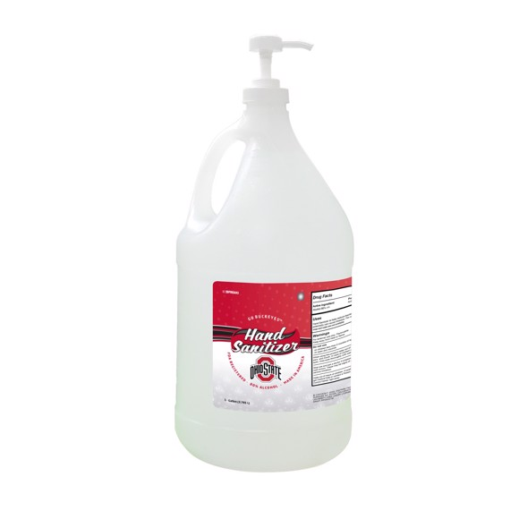 Picture of Ohio State Buckeyes 1-gallon Hand Sanitizer with Pump Top