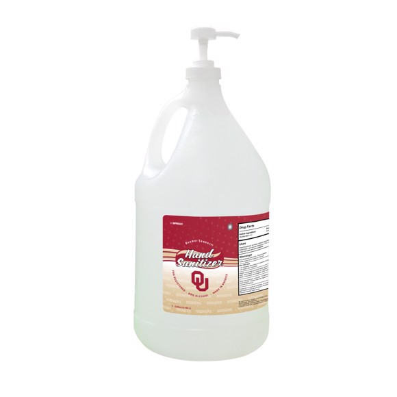 Picture of Oklahoma Sooners 1-gallon Hand Sanitizer with Pump Top