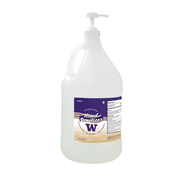 Picture of Washington Huskies 1-gallon Hand Sanitizer with Pump Top