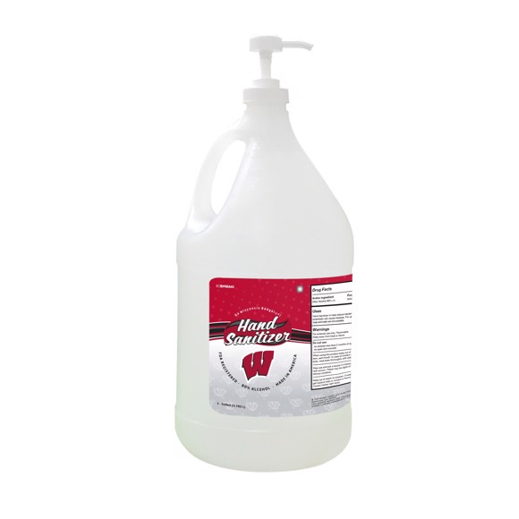 Picture of Wisconsin Badgers 1-gallon Hand Sanitizer with Pump Top