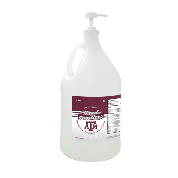Picture of Texas A&M Aggies 1-gallon Hand Sanitizer with Pump Top