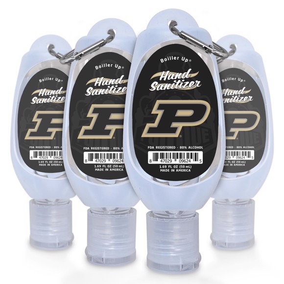 Picture of Purdue 1.69 Travel Keychain Sanitizer