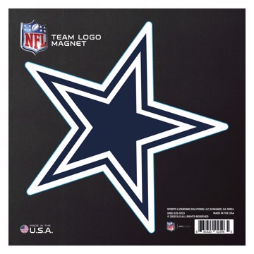 """Picture of Dallas Cowboys Large Team Logo Magnet 10"""""""
