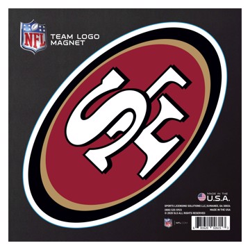 """Picture of San Francisco 49ers Large Team Logo Magnet 10"""""""